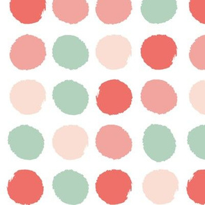 dots peach coral mint girls nursery baby