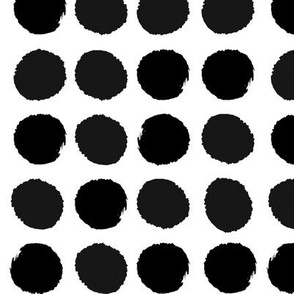 dots black and white painted dots watercolor dot cute nursery baby simple mod graphic dog