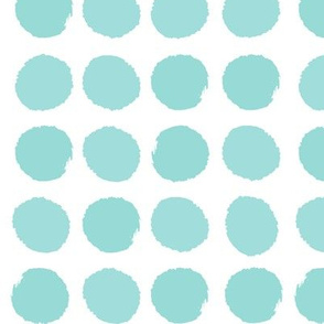 dots aqua turquoise girls sweet nursery baby dots dot
