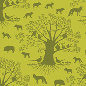 I spy animals coordinate. animal silhouette on green