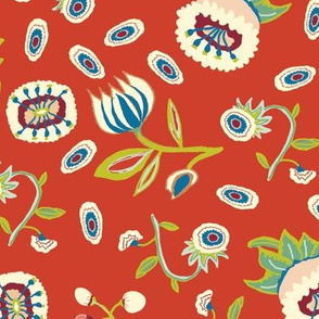 i spy animals coordinate small flowers on red