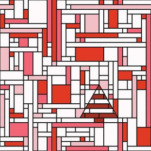 Mondrian Christmas (red)