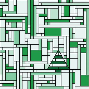 Mondrian Christmas (green)