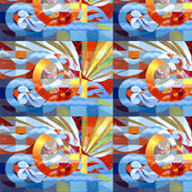 abstract geometric geometrical shapes rectangles squares circles swirls waves water rays