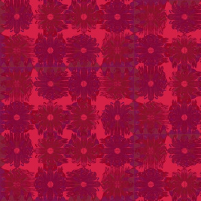 Winded Flowers Quilt Red Purple