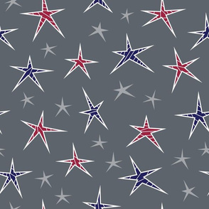 Patriotic Striped Stars
