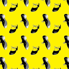Tap Shoes Yellow_Miss Chiff Designs