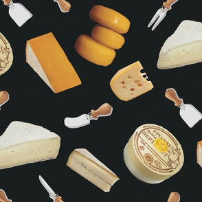 French Cheese on Black_Miss Chiff Designs