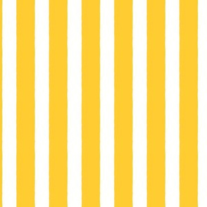 Blossom: Yellow Wobbly-Edged Stripes