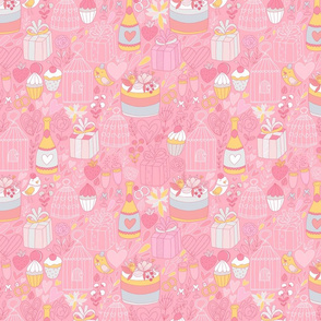 Cute wedding pattern