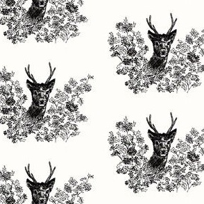 deer and holly