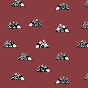 Hedgehogs - burgundy || by sunny afternoon