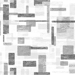 Watercolor Mosaic // Gray