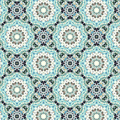 Lacy Blue Abstract