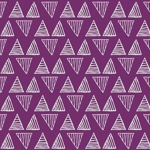 Triangles on Violet - Small
