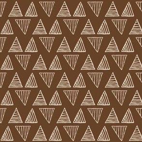 Triangles - Almond on Van Dyke Brown - Small