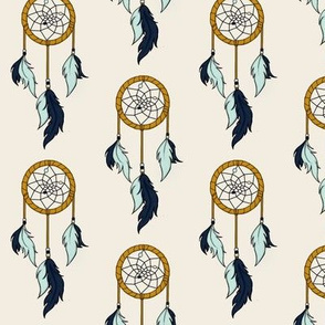 Dream catchers small - mint,navy,gold