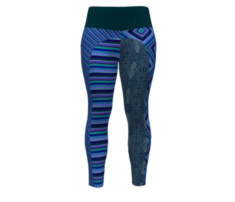 Bella Nina 8 - Horizontal Stripe - Variegated Blue, purple and teal