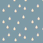 Raindrops, tears - blush on dusty blue || by sunny afternoon