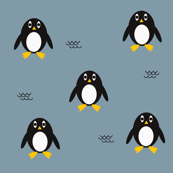 Penguins - dusty blue || by sunny afternoon