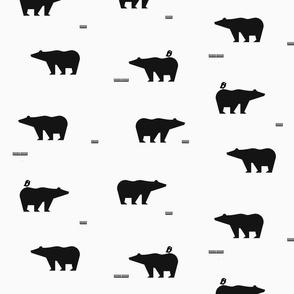 Polar bears - monochrome || by sunny afternoon