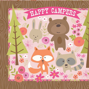 Happy Campers Flat Quarter