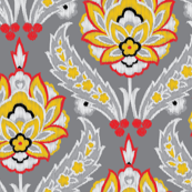 Turkish Ikat embroidery on Gray_Miss Chiff Designs