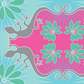 lizard-tea towel
