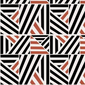 Camel Black Stripe Blocks