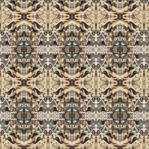 """Southwestern Block Printed Fabric"""