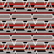 Black ECG stripes