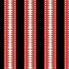 Black Block Print Stripes