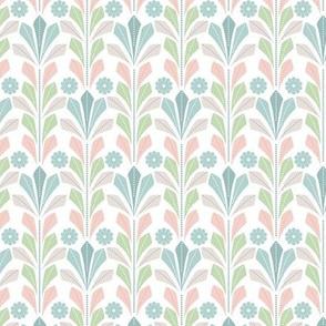 Geometric - pastel - leaf