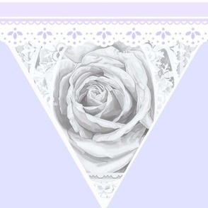 Wedding Rose Beauty Lace Bunting