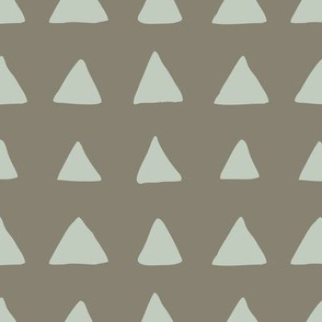 Triangles Taupe Seaspray
