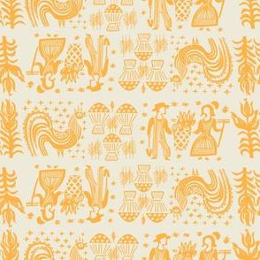 Pumpkin Butterprint All Over Design-Large