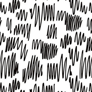 Scribblings and doodles fun abstract ink lines Scandinavian style black and white