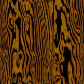 Faux Bois Woodgrain ~ Golden Brown on Black