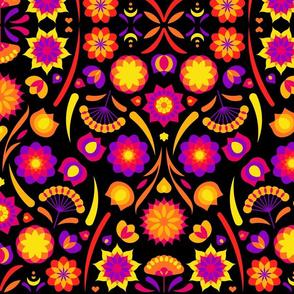 Happy flower (black)