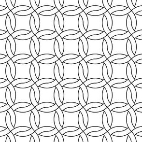 chainmail R4 x2 : black and white outline