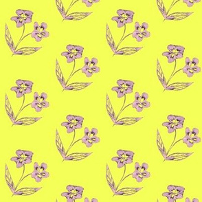 Pansy Garden Pretties on Lemon Frosting