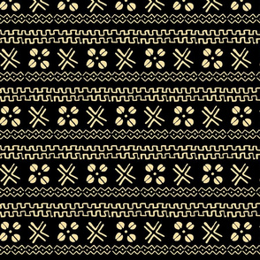 mud cloth african cowrie black cream