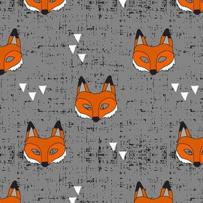 Fox Mask || grey