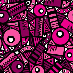 Dancing Shapes (Pink)