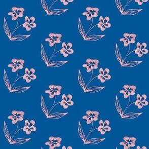 Pansy Garden Pretties on SummerSeas Blue
