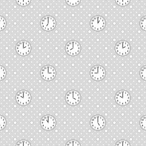 polka o'clock : grey