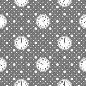 polka o'clock : grey