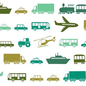 Vehicles in green (small)