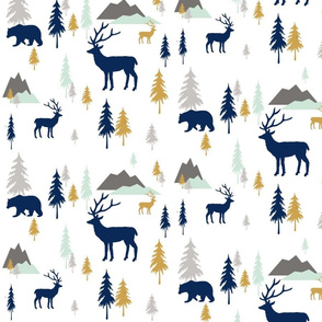 Bears_and_deer_mountains_forest_mint_copy