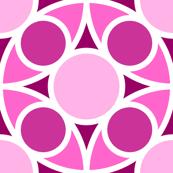 R4X circle mix : fuchsia pink magenta purple